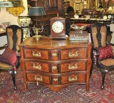 Antique French circa 1780 Louis XVI Serpentine Front Commode | Olde Mobile Antique Gallery