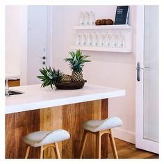 Make breakfast the way you like it in one of the many kitchen spaces at The Atlantic #pineapples #capisparkling #atlanticspaces
