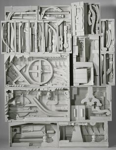 "Louise Nevelson - Dawn's Wedding Chapel IV wood painted white, 9' 1"" x 7' 3"" x 1' 1-1/2"" (276.9 x 221 x 34.3 cm), © 1959-1960 Estate of Louise Nevelson/Artists Rights Society (ARS), New York / Photo by G. R. Christmas"