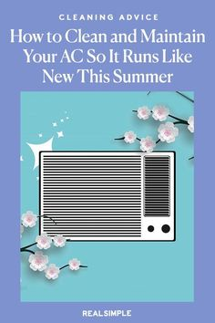 How to Clean and Maintain Your Air Conditioner So It Runs Like New This Summer | Whether you have central air or a window unit, check out these five simple air conditioning maintenance tips and tricks you can easily do to prep for the summer heat and stay cool. #organizationtips #realsimple #howtoclean #cleaningtips #cleaninghacks Window Air Conditioner, Window Unit, Laundry Hacks, Tidy Up, Window Cleaner, Summer Heat, Real Simple, Conditioning, Homemaking