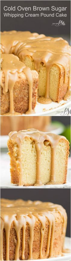 Cold Oven Brown Sugar Whipping Cream Pound Cake is perfectly moist and velvety on the inside with that crusty top thats loved so much.