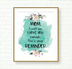 Mothers Day Gifts From Daughter, Mothers Day Quotes, Mothers Day Crafts, Mother Day Gifts, Gifts For Mom, Birthday Painting, Canvas Painting Tutorials, Mother Day Wishes, Mini Canvas Art
