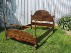 bed frame antique wooden four post