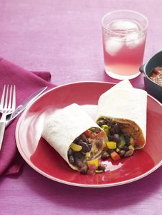 Black Bean and Quinoa Burritos #myplate
