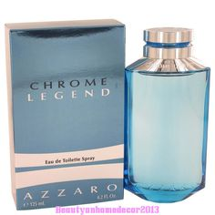 Chrome Legend by Azzaro 4.2 oz / 125 ml EDT Cologne Spray for Men New in Box #Azzaro