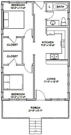 PDF house plans, garage plans, & shed plans. Guest House Plans, 2 Bedroom House Plans, Small House Floor Plans, 2 Bedroom Apartment Floor Plan, The Plan, How To Plan, Indian House Plans, Garage Apartment Plans, House Construction Plan
