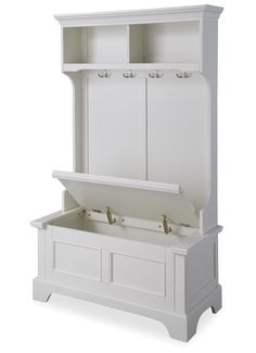 Naples Hall Tree. Small bench and coat rack and love the upper storage.