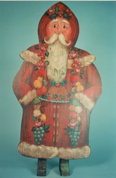 Santa Dummy Board- I've painted him, and loved him so much!  He's a Heidi England design, my favorite folk art teacher! No, my favorite painting teacher!