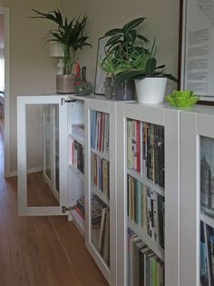 Nope, can't understand why IKEA offers some BILLY doors at full height only. Case in point, the OXBERG glass door. If you're in the market for half-height glass doors and do not plan on hacking the OXBERG, then this is for you. Ikea Bookcase, Small Bookshelf, Bookshelf Diy, Short Bookshelf, Bookshelves, Bookcase White, Deco Dyi, Ikea Billy Hack, Bookcase With Glass Doors
