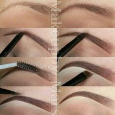 Perfect Eyebrows Made Easy With Semi Permanent Make Up Love Makeup, Diy Makeup, Makeup Looks, Beauty Make-up, Beauty Hacks, Hair Beauty, Beauty Tips, How To Make Hair, Eye Make Up