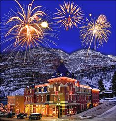 Ouray, Colorado fireworks echoed through the canyons...New Year's Eve. Our new holiday tradition
