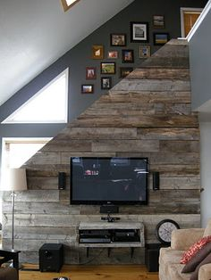 Another alternate to the chalkboard wall - you could wrap old barn wood around the wall from the potter barn, to create a feature wall
