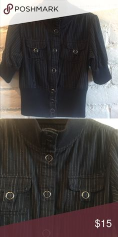 Button up top This top is pinned striped and super cute!!! Maurices Tops Button Down Shirts
