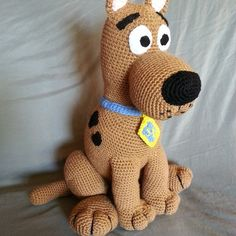 Here is a nother Scooby Doo I made. He has been slightly revised but stand about 16 inches.  https://www.etsy.com/shop/MammaBearCreations?ref=pr_shop_more  https://m.facebook.com/BeautifulBears4U?ref=bookmark  #Scooby #handmade #gifts #mysterydog #cuddle