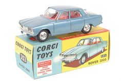 Corgi Toys - Rover Had a panel in the rear window which when touched, worked the headlamps - for a while Toy Model Cars, Diecast Model Cars, Rover P6, Automobile, Schooldays, Corgi Toys, Metal Toys, Rear Window, Classic Toys