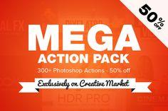 Mega Action Pack per Photoshop (300+)