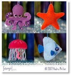 Super-cute Felt Sea Creature Patterns & Instructions