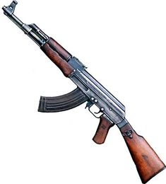"""AK-47, also calledKalashnikov Model 1947, Sovietassault rifle, possibly the most widely usedshoulder weaponin the world. The initials AK represent Avtomat Kalashnikova, Russian for """"automatic Kalashnikov,"""" for its designer,Mikhail Timofeyevich Kalashnikov, who designed the accepted version of the weapon in 1947."""
