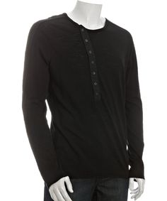 The Projek Raw black cotton long sleeve asymmetrical button shirt at Bluefly.