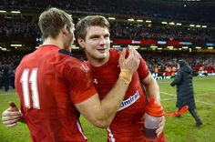 Wales beat south africa in last match of autumn series dan biggar and liam williams congratulate each other Tournoi Des 6 Nations, Liam Williams, Welsh Rugby, Red Dragon, Fangirl, Dan, Couple Photos, Wales, South Africa