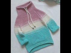 Реглан спицами сверху, росток спицами сверху, кофта спицами, свитер спицами 2 часть - YouTube