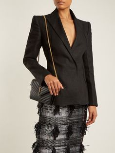 Click here to buy Carl Kapp Masera peak-lapel linen jacket at MATCHESFASHION.COM
