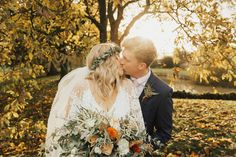 Pumpkin Wedding Decor for a Laid Back Boho Wedding in Autumn with Bride in Grace Loves Lace Wedding Dress by The Wild Bride Photography and Film Fall Wedding Bouquets, Fall Wedding Flowers, Autumn Wedding, Wedding Bride, Boho Wedding, Wedding Venues, Wedding Dress, Pumpkin Wedding, Wedding Venue Inspiration