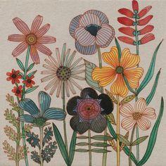 Watercolor and sanguine on bookboard - «Tile» by Geninne, freelance illustrator/designer.
