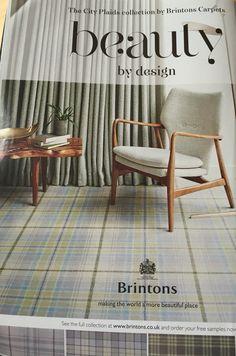 Modern take on tartan. Tartan Carpet, Country Interiors, Room Ideas, Decor Ideas, Carpet Stairs, Flooring Options, Home Look, Vignettes, Carpets