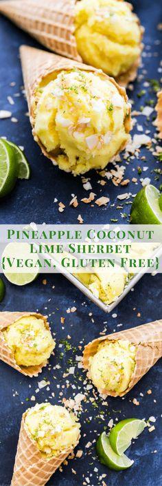 Pineapple Coconut Lime Sherbet