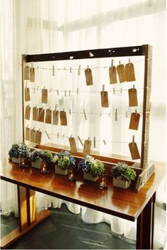 might consider making something like this for an earring/necklace organizer. A nice and easy display for big, colorful earrings!