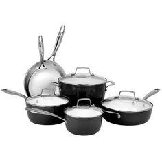 Oneida Premium 10 Piece Non-Stick Cookware Set Color: Black