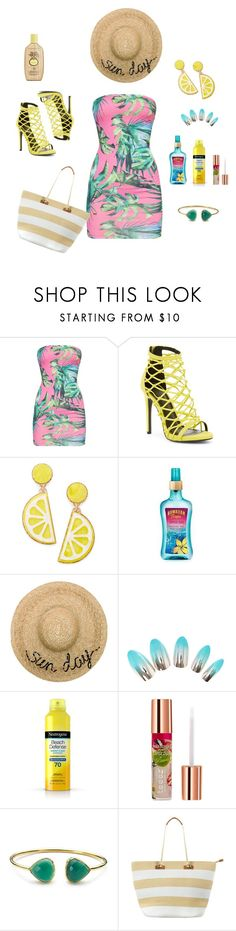 """""""Tropical Summer ☉"""" by fashionista-for-you ❤ liked on Polyvore featuring Wild Diva, Celebrate Shop, Eugenia Kim, Neutrogena, Teeez, Phase Eight and Sun Bum"""