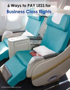 Do you dream of flying business class when you travel abroad but don't have a business class budget? Here are 6 ways to pay less for business class flights. // Click the image to read the article.