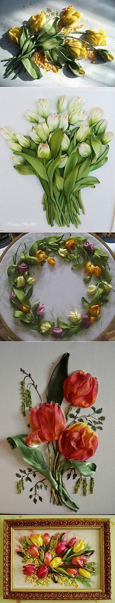И снова тюльпаны. Работы мастериц..