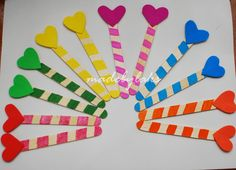 Heart Bookmark - Simple Homemade Gift for the class ~ Crafts Made By Laks