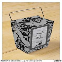 Black Raven Gothic Frame Wedding Favor Box