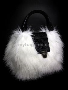 GOSHICO fur bag with an embroidered flap http://www.mybags.co.uk/goshico-fur-bag-with-an-embroidered-flap-1342.html