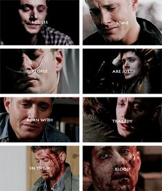 Dean Winchester: I guess some people are just born with tragedy in their blood. Supernatural Sad, Supernatural Pictures, Supernatural Wallpaper, Winchester Boys, Winchester Brothers, Dean Winchester Quotes, Sam E Dean, Celebrity Travel, Angels And Demons