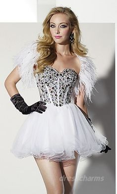 Baby doll Organza Strapless Short Dress Charm88795