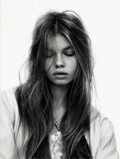 Beautiful face and long hair