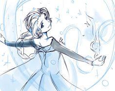 Elsa Frozen Disney Sketches   Frozen-Elsa Sketch by kichikutie23