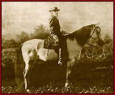 General Robert E. Lee, the Grey General and his favorite horse Traveler