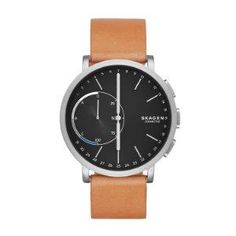 The battery life varies depending on the usage of the watch Calling facilities are compatible with Android phones only The Hagen Connected hybrid smartwatch combines innovative technology with classic design - no-charge hybrid smartwatches feature built-in activity tracking, filtered notifications, and automatic time and date adjustment. Snap a photo, ring your phone, control your music and more with the customizable Skagen link button. Smartwatch, Apple Watch Fashion, Smartphone, Color Plata, Bracelet Cuir, Wearable Technology, Silver Man, Tan Leather, Classic Leather
