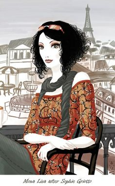 Sophie Griotto 1975 | French fashion illustrator         learningfrenchspeak.com