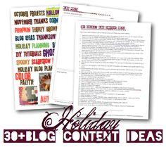 30+ Holiday Blog Ideas