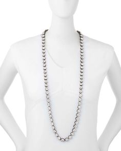 Lapponia Long Crystal Necklace