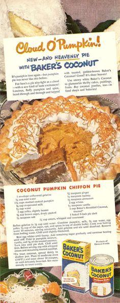 Cloud O' Pumpkin-Coconut Pumpkin Chiffon Pie- Baker's Coconut