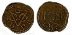 Copper coin.VOC 1788