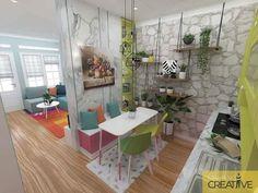 65 Ideas design interior home kitchens tiny house Best Home Interior Design, Vintage Interior Design, Home Room Design, Home Design Plans, Home Office Design, Interior Design Living Room, Living Room Designs, House Design, Small Living Rooms